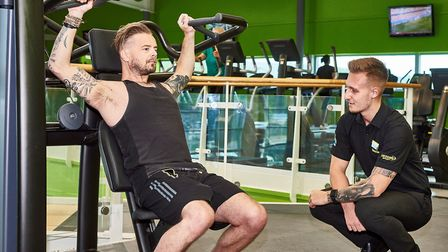 David Bloomfield undergoing his specialist training overseen by Jack Malcolm at Bannatyne Norwich We