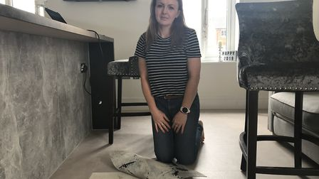 Heidi Walker has been fighting with Avant Homes to fix the floor in her new-build home since she mov