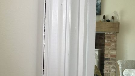 Cracks have been appearing in Rosemary Bartlett's new build home in Swanton Morley almost as soon as