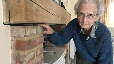 Rosemary Bartlett did not want a fireplace or wood burner, but having got one she hoped it would at