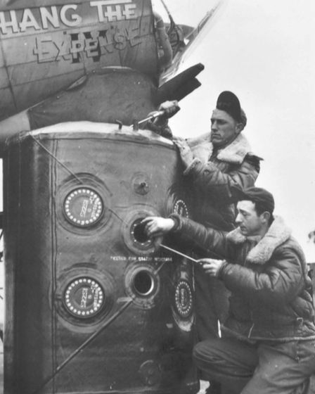 Ground crew of the 100th Bomb Group at Thorpe Abbotts. Picture: 100th Bomb Group Museum