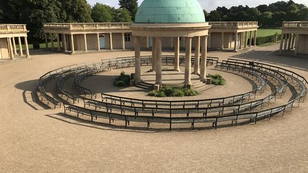 The victim, who is in his 20s, was with a woman at Eaton Park in the early hours of Monday morning w