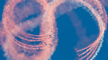 The RAF Falcons Parachute Display Team Picture: Lee Blanchflower