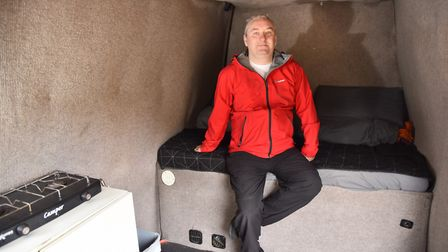 Chris Allen lives and travels across East Anglia in his van Byline: Sonya DuncanCopyright: Archant 2