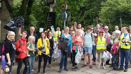 Norwich Green Party campaigners and the local community got together to clear litter from the River