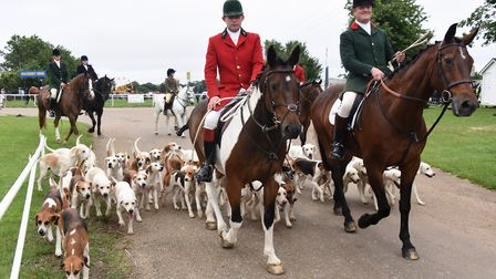 The North Norfolk Harriers and the Dunston Harriers at the Royal Norfolk Show. Picture: DENISE BRADL