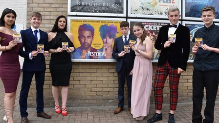 Ormiston Denes Academy students in Lowestoft at East Coast Cinema in town for the general release of