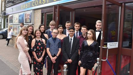 Ormiston Denes Academy students in Lowestoft on the red carpet for the general release of Yesterday.