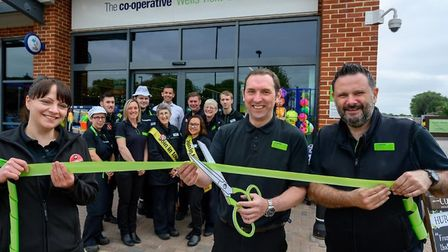 Central England Co-operative invests £250,000 in revamping food store in Wells. Store manager Mark D
