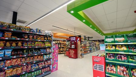 Central England Co-operative invests £250,000 in revamping food store in Wells. Internal picture of