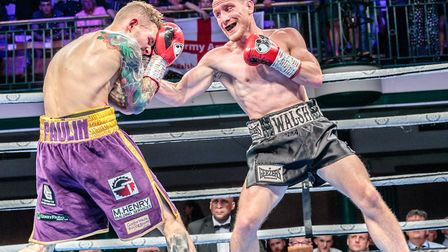 Ryan Walsh in action at York Hall against challenger Lewis Paulin Picture: Mark Hewlett Photography