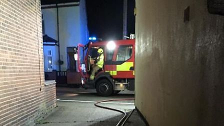 Appliances from North and South Lowestoft Fire Station were called to Princes Road. Picture: Lowetso