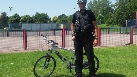 PC Andrew Read was on patrol in Wymondham when he smelt cannabis. Picture: South Norfolk Police