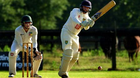 James Hale, who top-scored with 78 for Great Witchingham against Burwell Picture: Tim Ferley