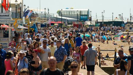 Hundreds of people enjoyed the sunshine at Hunstanton beach. Picture: Chris Bishop