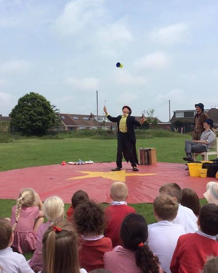 As part of their circus themed curriculum, the children at Sparhawk Infant School and Nursery were v