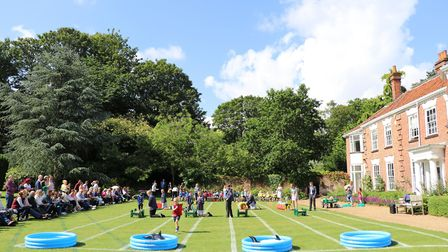 The Town Close School Nursery children thoroughly enjoyed their first School Sports Day. Photo: Town