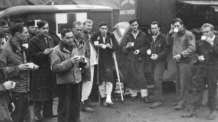 Servicemen at the USAAF Hospital in Wymondham. Photo: Submitted