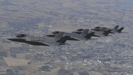 Royal Air Force F-35 Lightning aircrafts from Dambusters 617 Squadron have flown to Italy to take pa