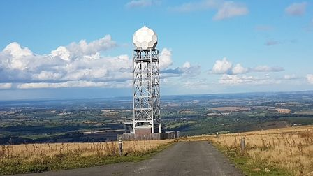 A weather radar in Clee Hill, Shropshire, similar to that proposed for Old Buckenham. Photo: Met Off