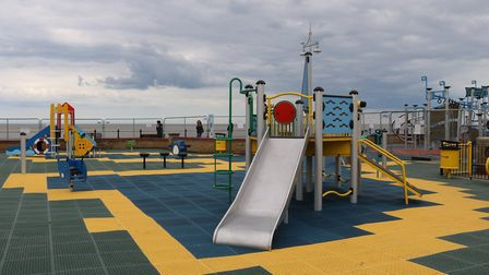 The new play area, which has opened on the seafront in Lowestoft. Picture: East Suffolk Council