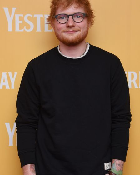 Ed Sheeran at the Gorleston Palace cinema for the local premiere of the film Yesterday. Picture: DEN