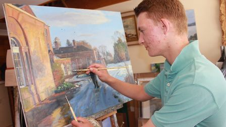 Kieron Williamson, whose latest exhibition marks ten years since he hit the headlines as a six-year-