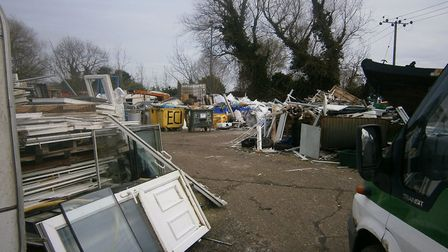 Illegal waste piled up at Fairfield Grange Picture: Environment Agency