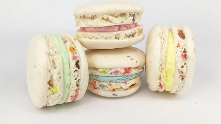 Funfetti macarons made by Macarons and More in Norwich Photo: Macarons and More