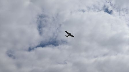 The burial of Norfolk soldier Tom Bowden at Diss Cemetery saw a fly-past by a plane he used to own a