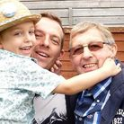 Martin Betts, centre, with eldest son Jake and dad Paul in 2010. Picture: Martin Betts