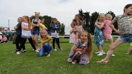 Elm Tree Primary Dance Festival children performing one of their routines at the celebratory event.