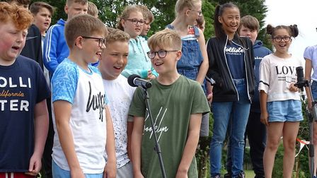 Year 6 performing at the celebratory event at Elm Tree Primary School in Lowestoft. Picture: Elm Tre