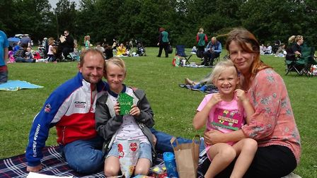 The Davey family enjoying the picnic together as Elm Tree Primary School turned 50. Picture: Elm Tre