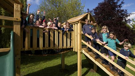 Official opening of new play area in Corpusty which cost £23,000 and two years to plan and develop t