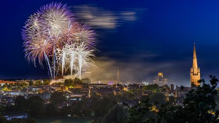 The fireworks display at the end of the Lord Mayor's Celebration. Photo: Alex Lyons