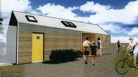 The planned replacement toilet block for North Walsham's New Road car park. Picture: NNDC/SMG Archit