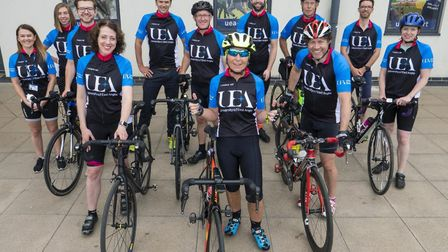 Team UEA ahead of the British Cycling event in Norwich on Sunday 30th June. Picture: Neil Hall
