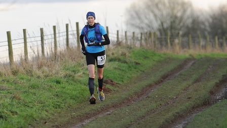 Mandy Foyster in action at the Peddars Way Ultra in 2017. Picture: Tim Smith