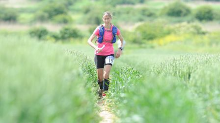 Mandy Foyster on the move at the Norfolk 100K in 2017. Picture: Tim Smith