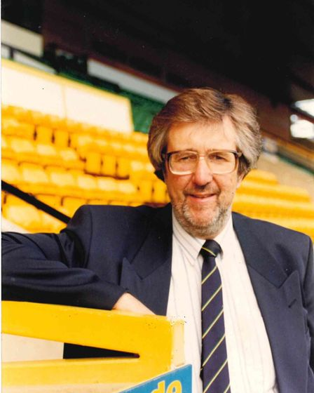 Roy Blower at his beloved Carrow Road Picture: Archant