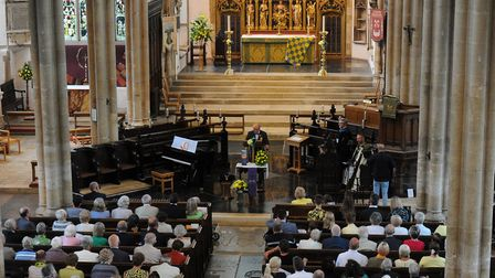 The celebration of life service for Roy Blower at St.Peter Mancroft, Norwich. Picture: Jamie Honeywo