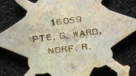 The First World War Star medal given to George Ward from Swaffham. Picture: Paul Houghton