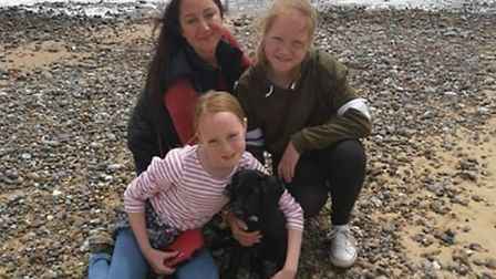 Mrs Rogers, pictured with her daughters Martha and Elizabeth. Picture: Contributed by Emma Rogers