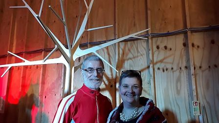 Cliff Matthews and wife Anna during the SPILL performance festival in Ipswich last year. Picture: L