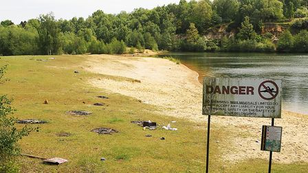 Swimmers have been warned not to use sites such as Bawsey Pits by Norfolk Police. Picture: Ian Burt