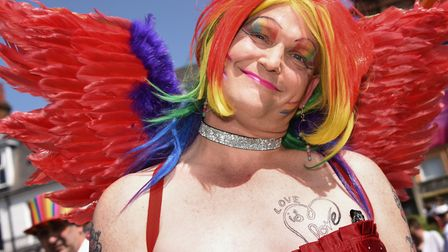 Kevin Clarke ready for the Great Yarmouth and Waveney Pride parade. Picture: DENISE BRADLEY