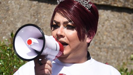 Eva Genna-Talia, organiser of the Great Yarmouth and Waveney Pride parade. Picture: DENISE BRADLEY