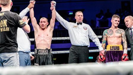 Victory for Ryan Walsh over Lewis Paulin at York Hall Picture: Mark Hewlett Photography