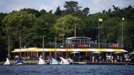 The Norfolk Broads Yacht Club at Wroxham Broad. Picture: DENISE BRADLEY